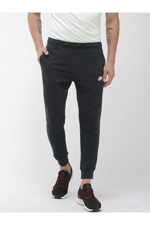 Nike Men Black French Terry NSW CLUB Solid Joggers