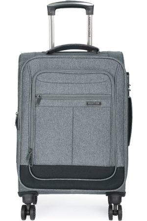 "Kenneth Cole Unisex Grey Solid Reaction 20"" Cabin Trolley Suitcase"