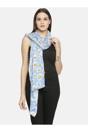 Ayesha Women Blue & White Printed Scarf
