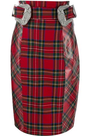 Philipp Plein Tartan pencil skirt