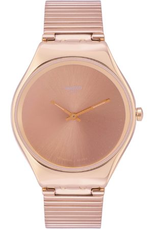 Swatch Unisex Rose Gold-Toned Swiss Made Analogue Watch SYXG101GG