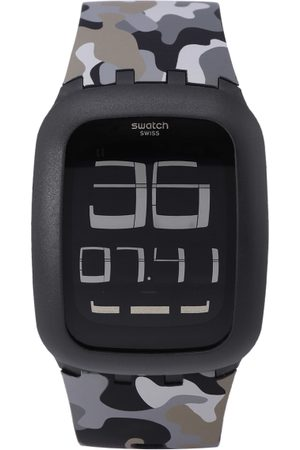 Swatch Unisex Grey & Black Swiss Made Multi Function Watch SURB119C
