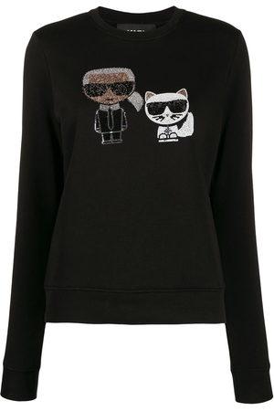 Karl Lagerfeld Ikonik crystal sweatshirt
