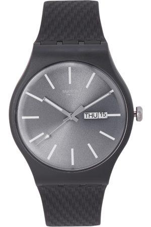 Swatch Unisex Gunmetal-Toned Swiss Analogue Watch SUOM708