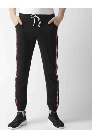 Hubberholme Men Black Solid Joggers