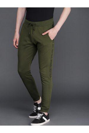 WROGN Men Olive Green Slim Fit Joggers