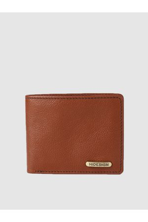 Hidesign Men Tan Brown Solid Two Fold Leather Wallet