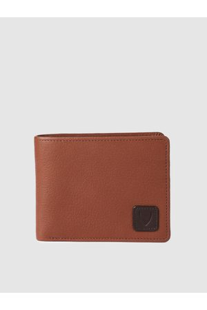 Hidesign Men Tan Solid Leather Two Fold Wallet