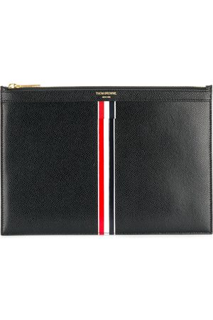 Thom Browne Men Laptop Bags - Vertical Intarsia Stripe Small Leather Tablet Holder