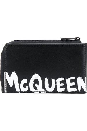 Alexander McQueen Men Wallets - Logo print coin pouch cardholder