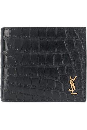 Saint Laurent Croc-effect bi-fold wallet