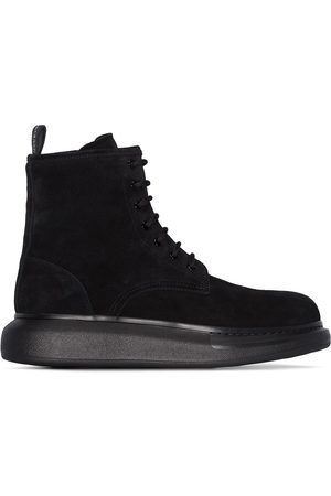 Alexander McQueen Men Boots - Hybrid lace-up ankle boots