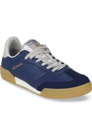 Red Tape Men Navy Blue & White Colourblocked Sneakers