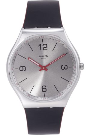 Swatch Unisex Silver-Toned Swiss Made Analogue Watch SS07S104