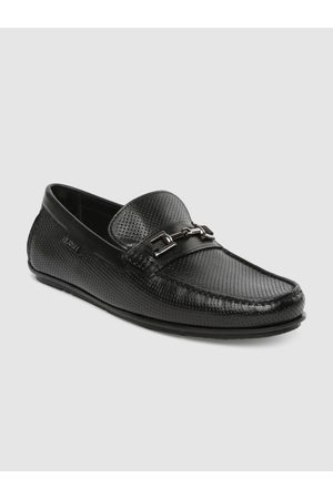 Ruosh Men Black Leather DRIVER 06 Loafers