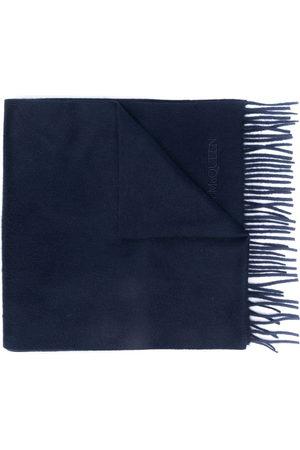 Alexander McQueen Embroidered logo scarf
