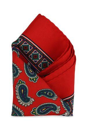 Calvadoss Men Red & Blue Printed Pocket Square