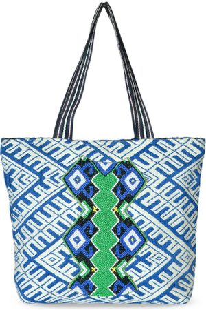 Diwaah Blue Self Design Shoulder Bag