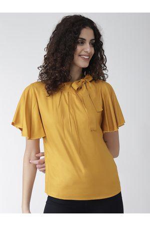 Style Quotient Women Mustard Yellow Solid Top