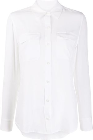 Equipment Women Long Sleeve - Signature slim-fit silk shirt