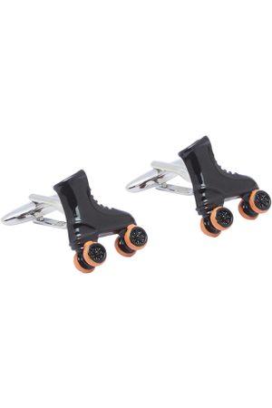 shaze Silver-Toned Quirky Skater Cufflinks