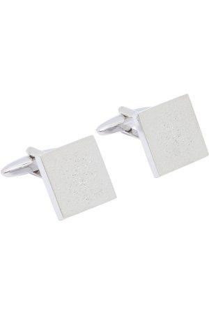 shaze Silver-Toned Square Balanced Cufflinks