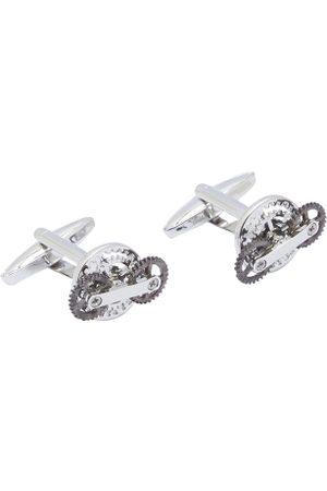 shaze Men Cufflinks - Silver-Plated Quirky Cufflinks