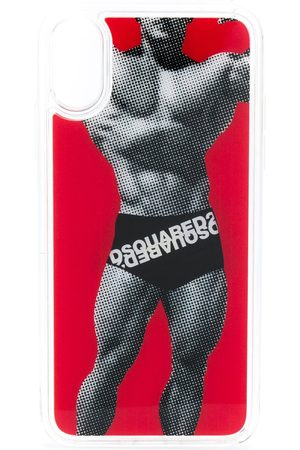 Dsquared2 Men Phone Cases - Happy leaf logo boxers iPhoneX case
