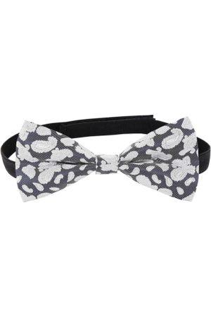 ZIDO Grey & White Woven Design Bow Tie
