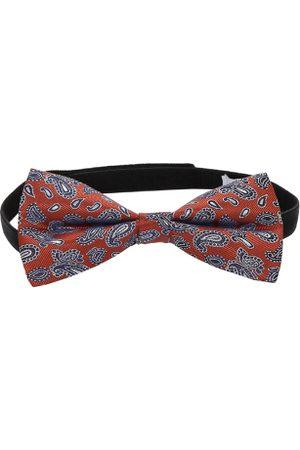 ZIDO Rust Woven Design Bow Tie