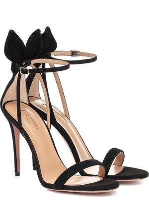 Aquazzura Deneuve 105 suede sandals