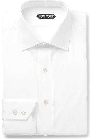 Tom Ford Slim-fit Cutaway-collar Cotton-poplin Shirt