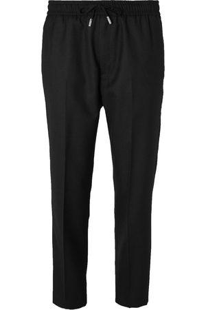 Mr P. Slim-fit Wool-twill Drawstring Trousers