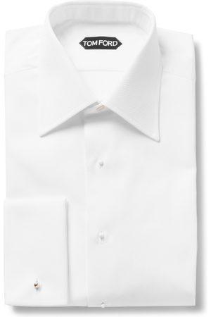 Tom Ford Slim-fit Bib-front Double-cuff Cotton Tuxedo Shirt