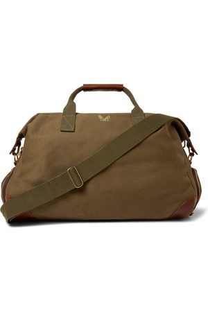 Bennett Winch Weekender Leather-trimmed Cotton-canvas Holdall