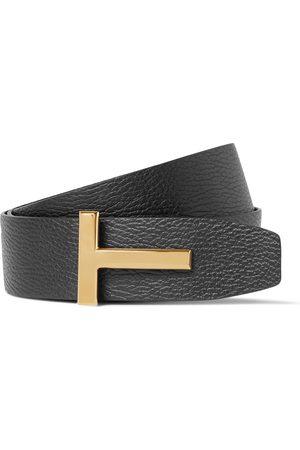 Tom Ford 4cm Black And Dark- Reversible Full-grain Leather Belt