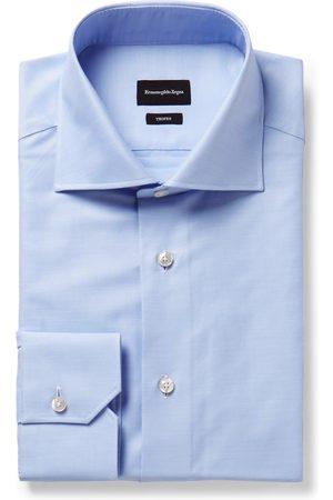 Ermenegildo Zegna Light- Trofeo Slim-fit Cutaway-collar Cotton-poplin Shirt