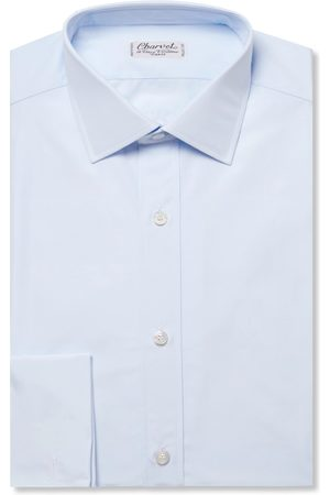 Charvet Slim-fit Double Cuff Cotton-poplin Shirt