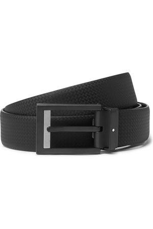 Mont Blanc Men Belts - 3cm Textured-Leather Belt