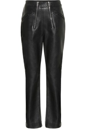 Stella McCartney Women Leather Trousers - High-rise faux leather pants