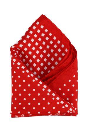 Calvadoss Men Red & White Printed Pocket Square