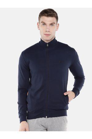 Sweet Dreams Men Blue Solid Sweatshirt
