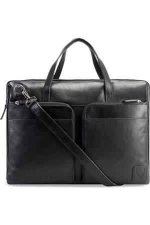 Hidesign Men Black Solid Laptop Leather Bag