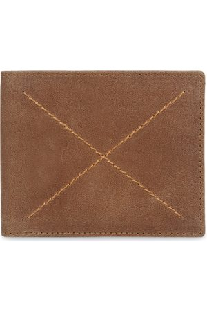 amicraft Men Tan Brown Solid Two Fold Wallet