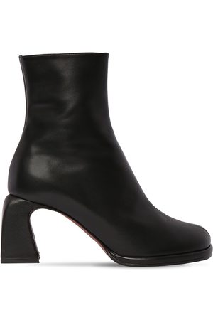 MANU Women Ankle Boots - 75mm Chae Leather Ankle Boots