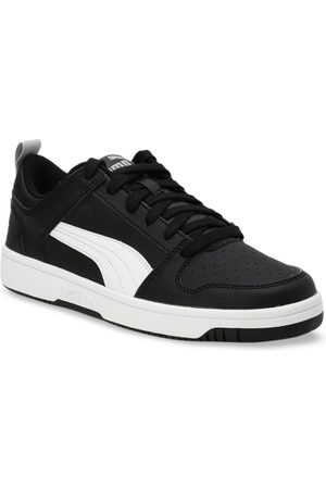 Puma Kids Black Mesh Jogger V PS Running Shoes