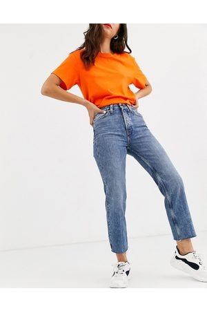 ONLY Cropped straight leg jeans with high waist in