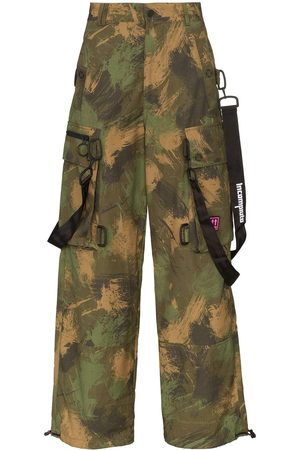OFF-WHITE Men Cargo Trousers - Camouflage loose cargo trousers