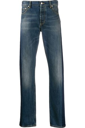 Alexander McQueen Side tape straight-leg jeans