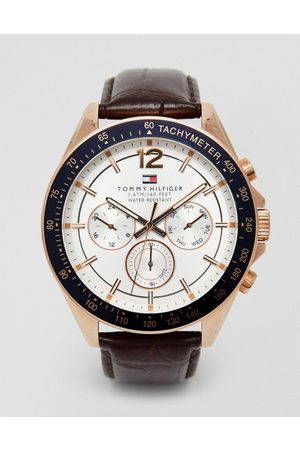 Tommy Hilfiger Luke leather strap watch 1791118